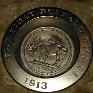 Avon buffalo nickel dish